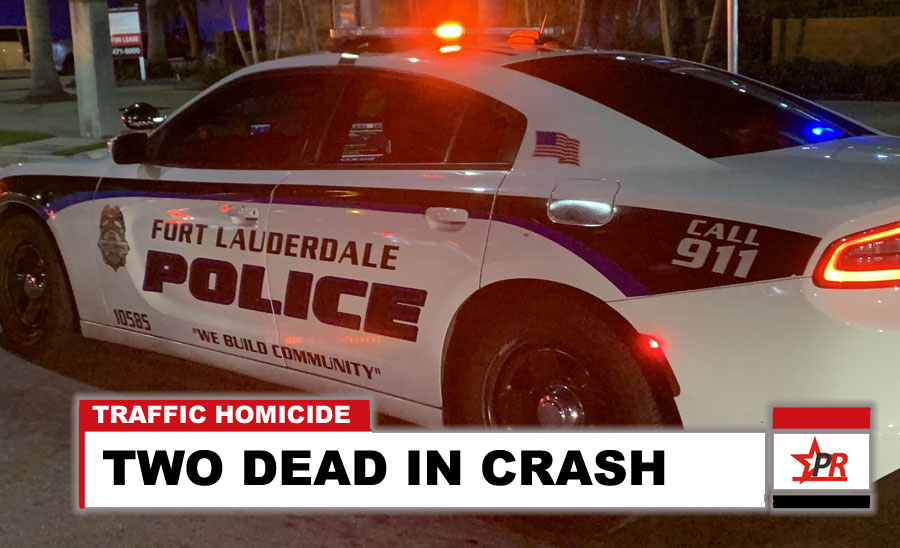 TWO DEAD IN CRASH