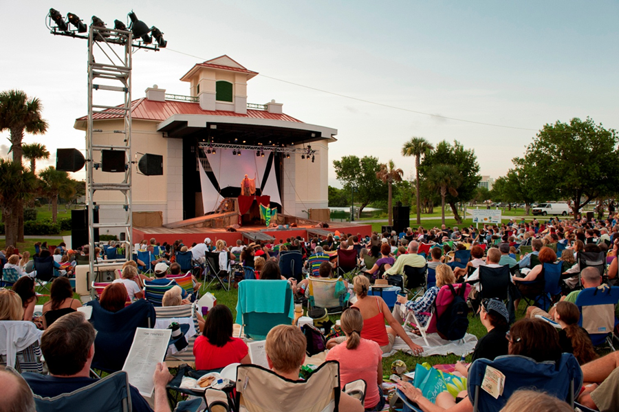 The free, outdoor event is presented in cultural partnership with Palm Beach County Parks and Recreation on July 8 – 11 and July 15 – 18. Gates open at 6:30 pm with performances starting at 8 pm. A $5 donation per person is suggested.  The first 100 people to attend opening night will receive a free beach towel, courtesy PNC Bank.