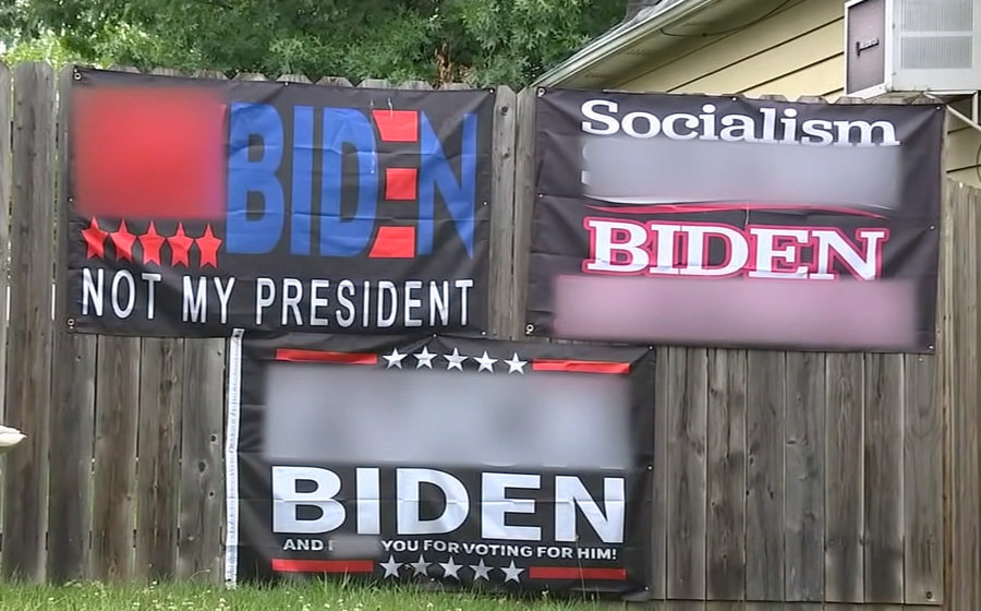 Pro-Trump, anti-Biden signs with foul language cause stir in NJ town