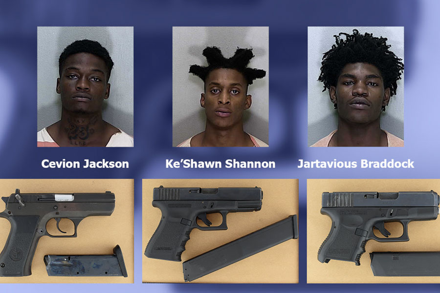 Ocala Police Get Three Guns Off Street Through Strategic Vehicle Takedown