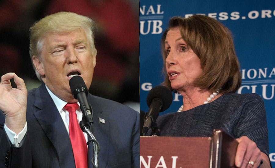 In the statement, released on Thursday, Former President Donald Trump claimed that House Speaker Nancy Pelosi's comments were untrue and that, in contrast, the President was responsible for reducing global conflicts while in office