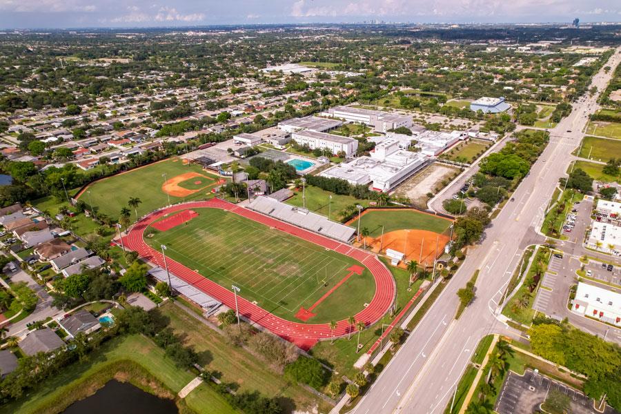 Cooper City High School in Broward County, Florida