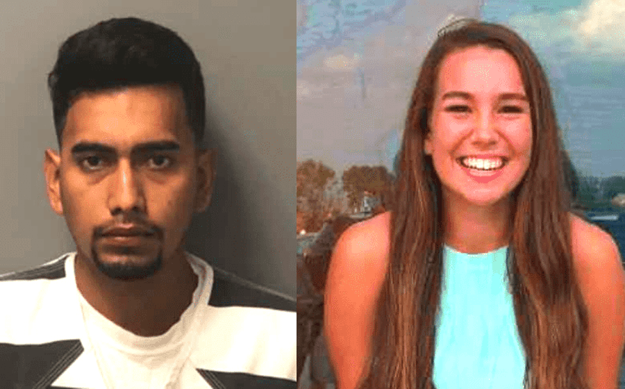 Cristhian Bahena Rivera (left) was convicted of the murder of Mollie Tibbetts. Photo credit: Poweshiek County Emergency Services, Federal Bureau of Investigation