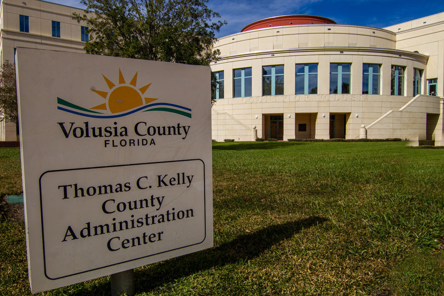 The Volusia County administration building in Deland, Florida, on December 27, 2020.