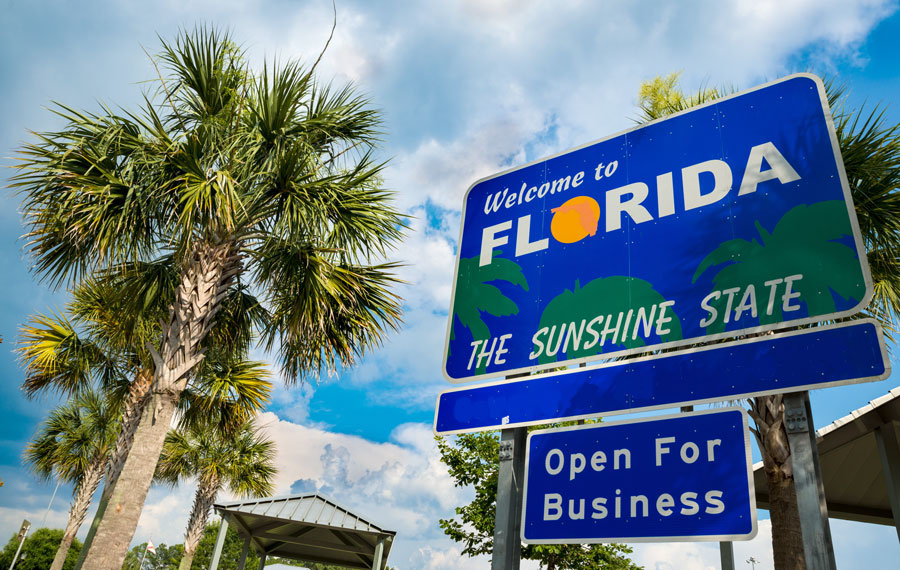 Visit Florida, the state's official tourism organization, estimates that 30.6 million tourists visited during the months of April, May and June, representing a whopping 216 percent jump over the same period of time in 2020.