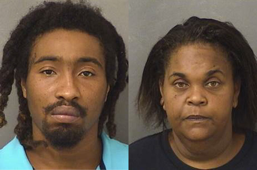 Charquez Giles, 26, of Riviera Beach and Latonia Clemons, 36 of Boynton Beach, were arrested and transported to the Palm Beach County Jail to face charges of Third Degree Felony Murder, Aggravated Manslaughter of a Child and Neglect of a Child.
