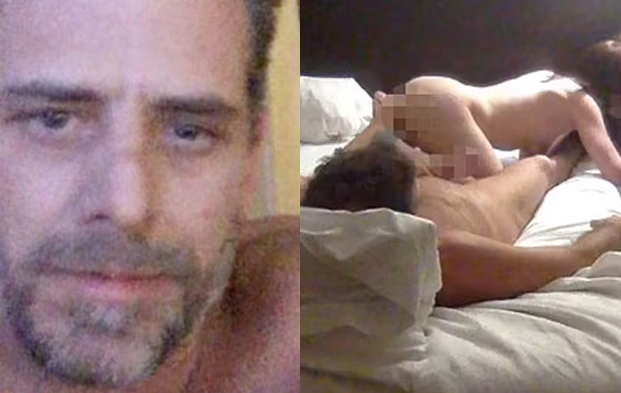 Throughout the video Hunter and the unidentified woman appear to be doing drugs off the bedside table. The incident would mean Hunter lost a total of three computers, each likely to hold sensitive information on President Joe Biden.