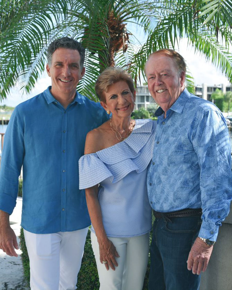 """The run is dedicated this year to """"Run for Jim"""", honoring its late founder, Jim Dunn of J.R. Dunn Jewelers, who founded the run 25 years ago to give back to our local community. Photo: Sean (son), Ann Marie (loving wife)  and Jim Dunn."""