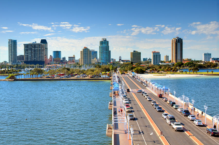 Skyline of St. Petersburg, Florida. File photo: ShutterStock.com, licensed.