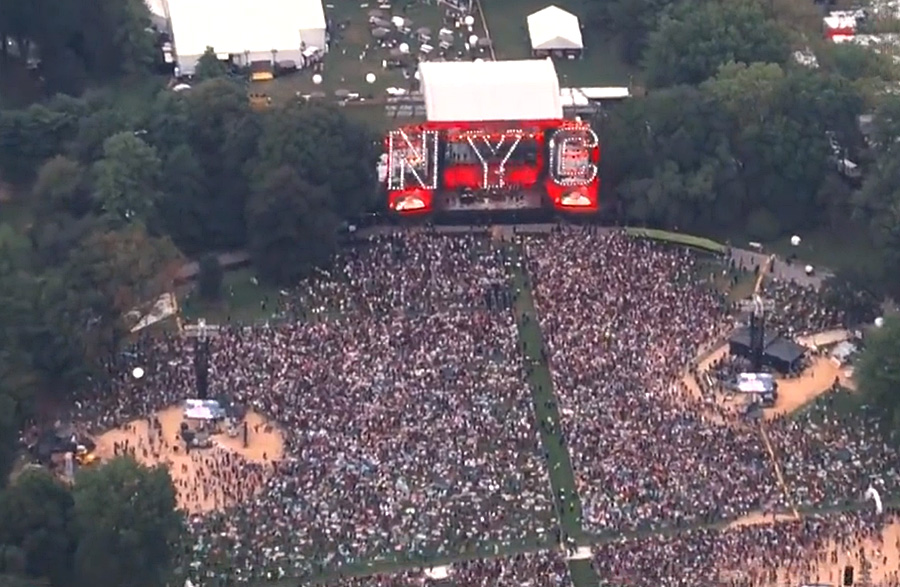 According to Variety Magazine, the event hosted 60,0000 attendees in Central Park on Saturday, who can be seen, mostly mask-less, amid a spike of variant related COVID-19 cases in New York City.