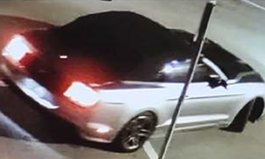 According to detectives, during the course of the investigation a vehicle appearing to be a newer model Ford Mustang convertible was identified as a vehicle of interest. The vehicle may have front end damage.