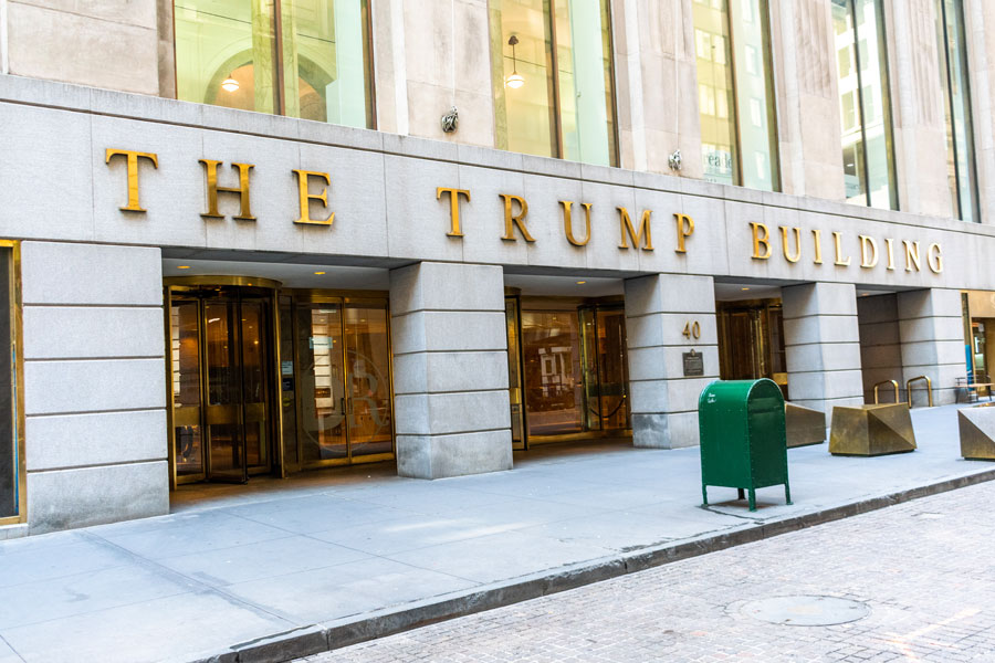 The Trump Building on 40 Wall Street in the Financial District of Manhattan.