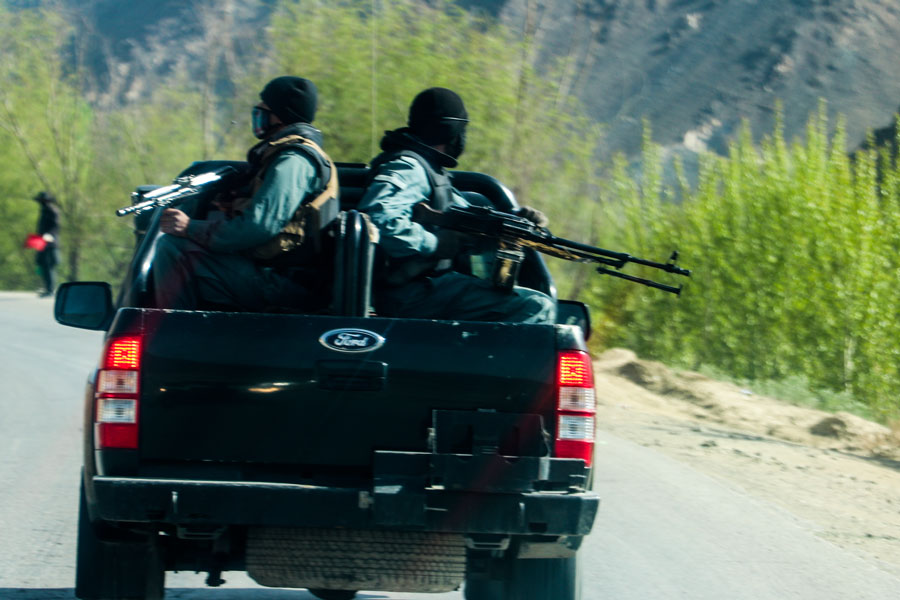 Afghanistan security forces around Kabul just before the Taliban took over the country.