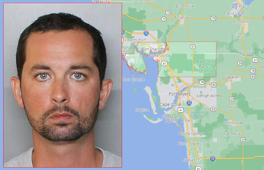 Christian Rinehart Miller, 32, of Port Charlotte, was arrested on possession of firearm ammunition or weapon by Florida convicted felon, aggravated assault with deadly weapon without intent to kill, and resisting officer without violence.
