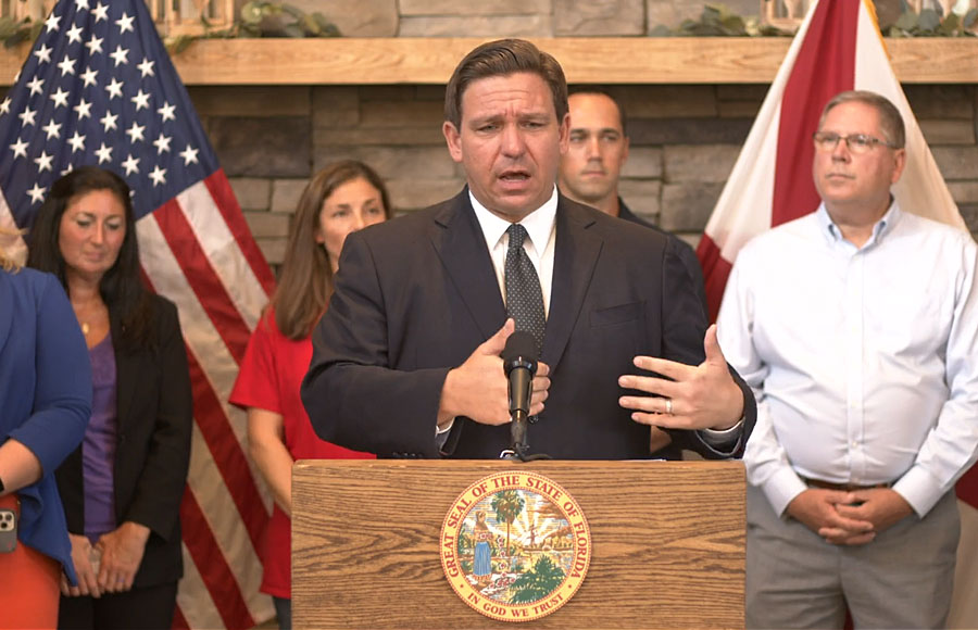 Governor DeSantis held a press conference to address the recent attacks on Floridians' freedoms.