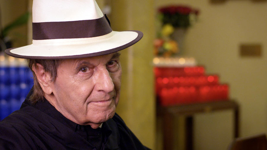 Joe Bologna playing Father Anthony film still Tango Shalom. Photo by Vision Films, Inc. and Convivencia Forever Films.