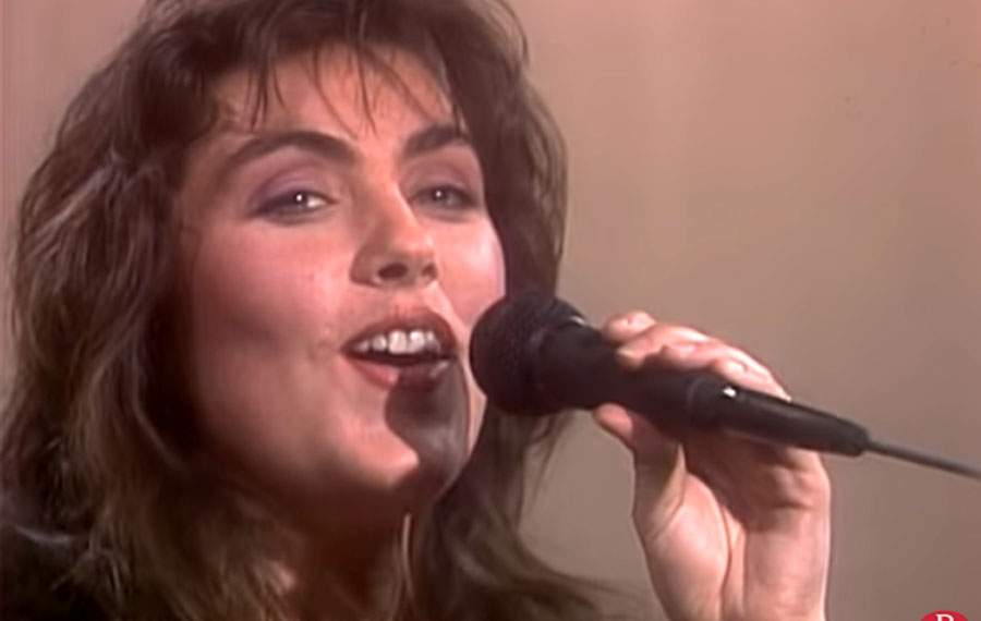 """Laura Branigan singing """"Gloria"""" from the album 'Branigan' (1982). It reached No. 2 on the Billboard Hot 100 and spent 36 weeks on the chart, setting a new record for a single by a solo female act at the time. Credit: WMG/YouTube/Rhino."""