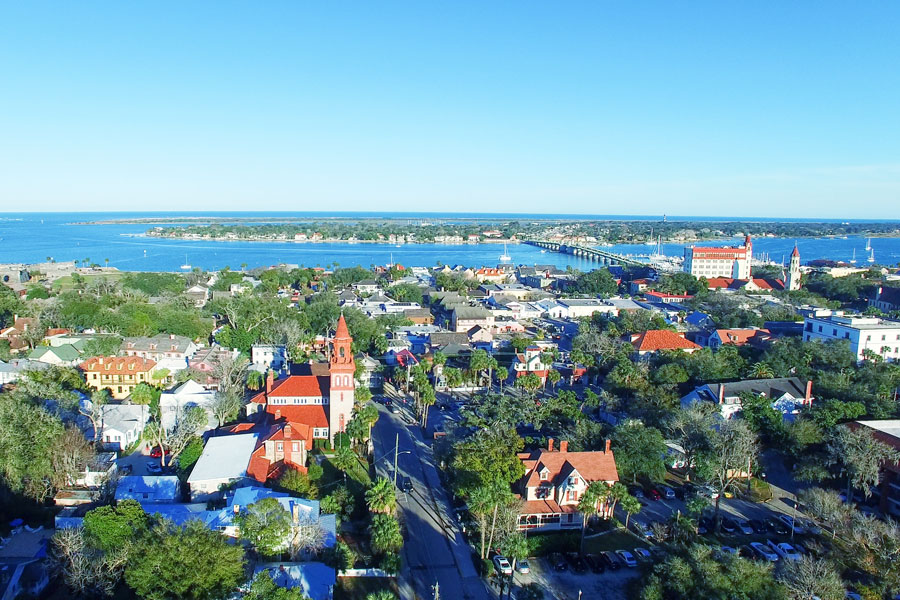 Saint Augustine between North East and Central East Florida