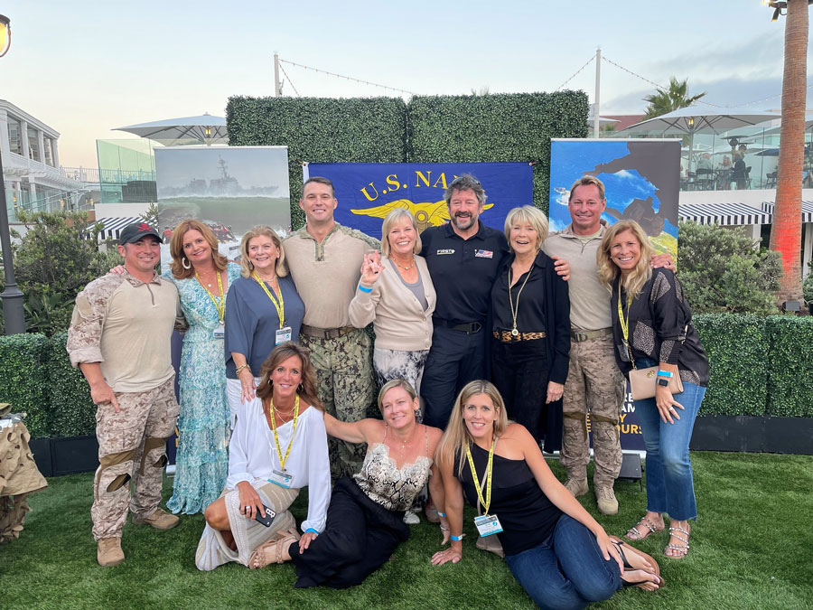 Berkshire Hathaway HomeServices Florida Network Realty Realtors connect with the Navy Seals during a special event at the Summit Conference.