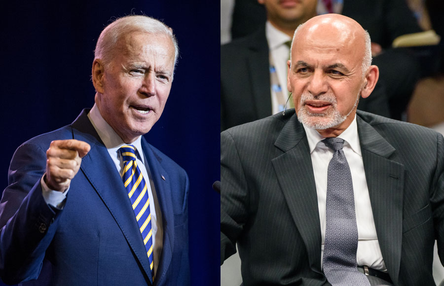 In the last phone call between Biden and his Afghan then-counterpart Ashraf Ghani, the American president said they needed to change perceptions of the Taliban