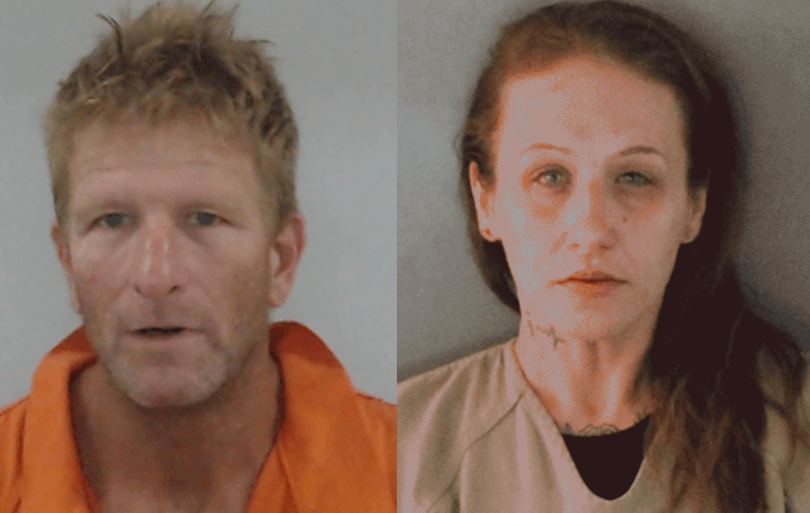 According to authorities, Clinton ToddDorkin, 51 and AmberCarlini, 37 are charged with entering a fenced-in yard where a work vehicle was parked and removing its catalytic converter.