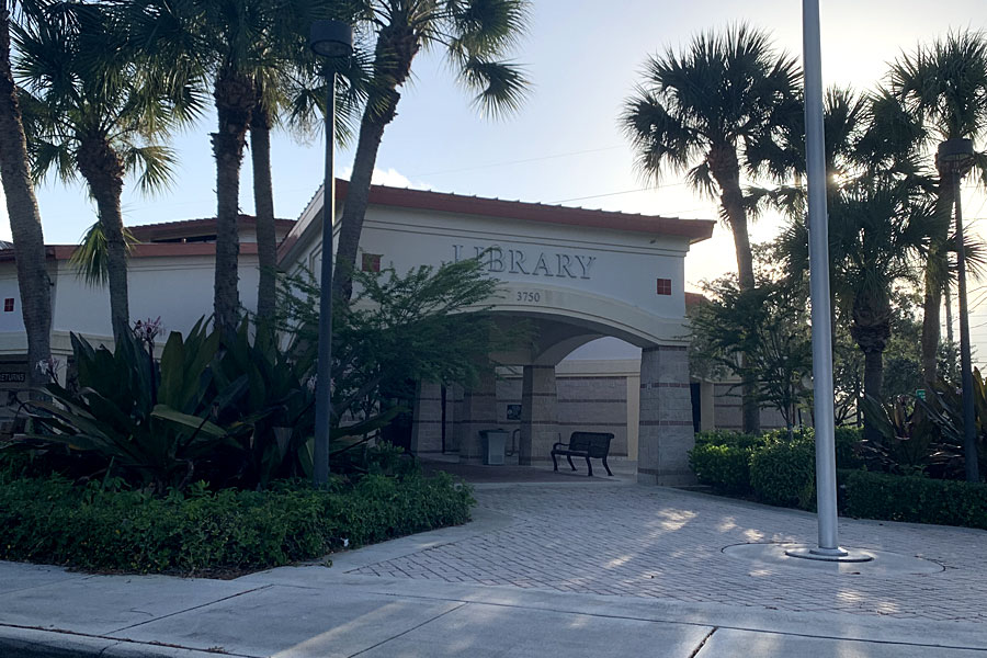Greenacres Branch - Palm Beach County Library on September 6, 2021.