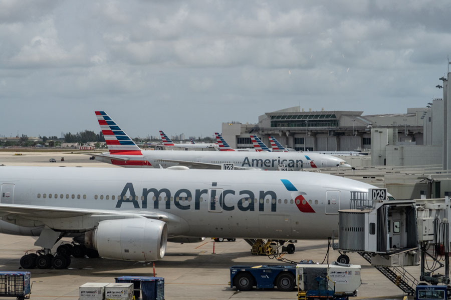 American Airlines, at Miami