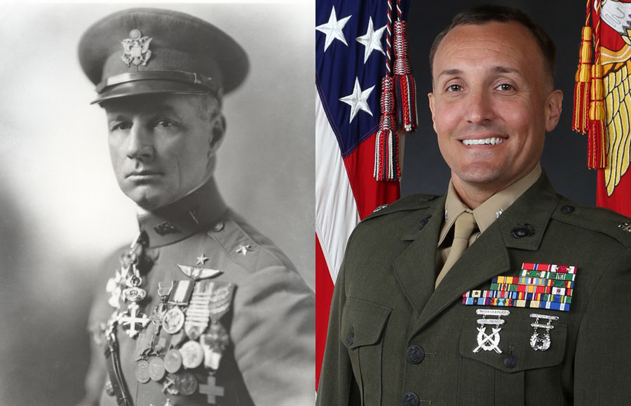 Gen. William 'Billy' Mitchell 'The Father Of The U.S. Air Force' And Marine Lieutenant-Colonel Stuart Scheller
