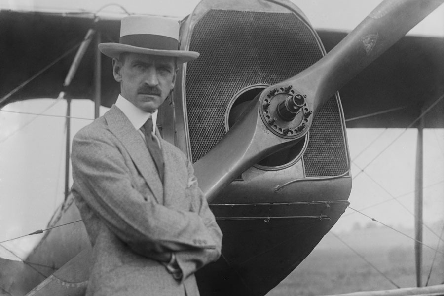 Curtiss engaged in a patent fight with the Wright Brothers that lasted until the Wrights.