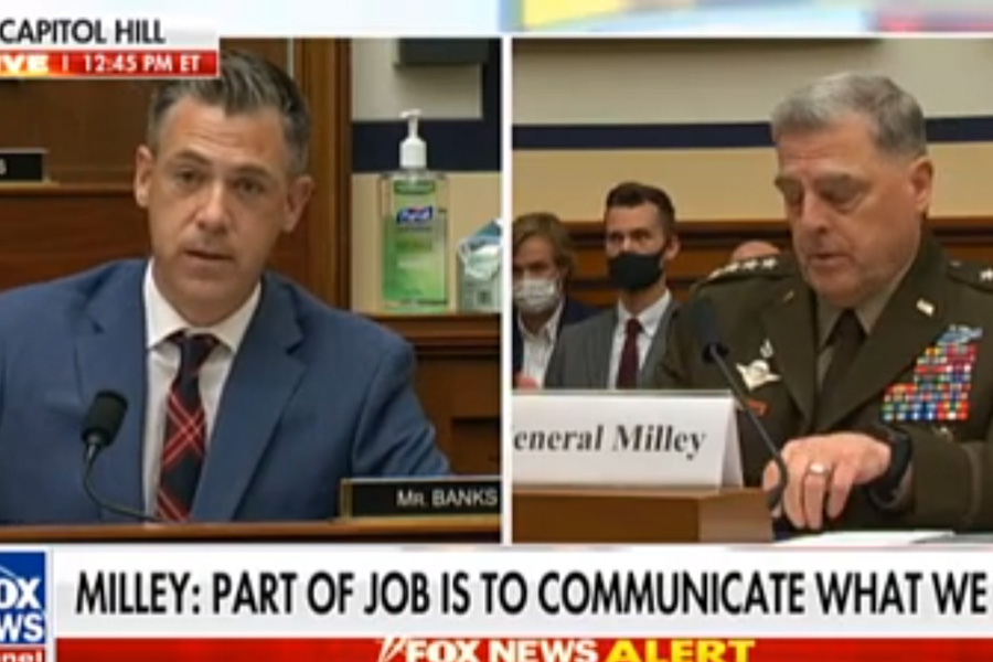 Jim Banks Questions Milley On Comparing Conservative Press Outlets To Terrorists