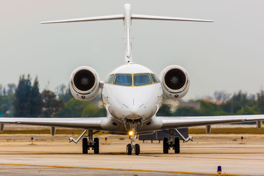 Bombardier 300 is mid sized corporate jet capable of transcontinental nonstop flights.