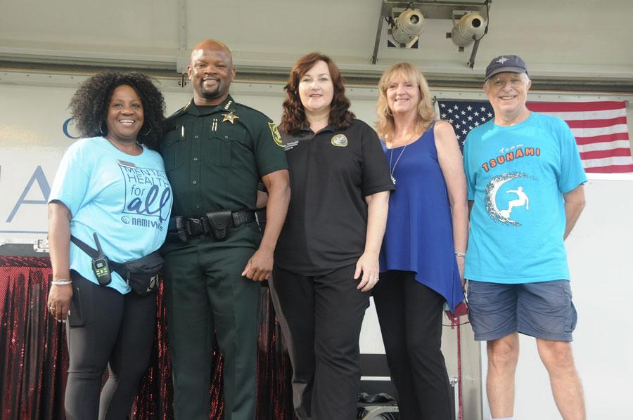 Dr. Sandra Cumper Boynton, Sheriff Gregory Tony, Christine Hunschofsky, Dean Karen Grosby and Allen Giese