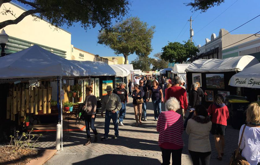 Nearly 100 craft artisans from around Florida and the nation will line Osceola street from 10 am to 5 pm both days.