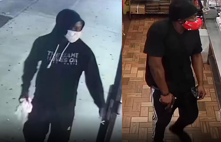 surveillance video of two subjects who robbed