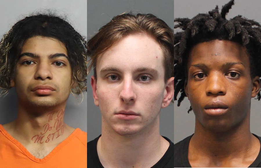 Detectives say Christopher R. Molina, 18 of Davie, Tyler N. Baker, 16 of Plantation, and Bo A. Darville,16, of Deerfield Beach, stole a SUV in Broward County and committed several armed robberies in the cities of Plantation and Hialeah, before striking south Miami-Dade County.